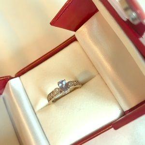 Tanzanite and white gold ring